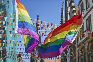 Ab Freitag weht die Regenbogenflagge bis zum Tag der Demonstration anlässlich des Christopher Street Day am 29. August. Foto: Presseamt Münster.