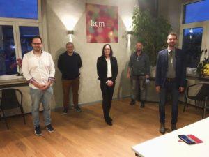 V.l.n.r.: Norman Devantier, Heiko Philippski, Petra Böhm, Felix Adrian Schäper und Alexander Proske
